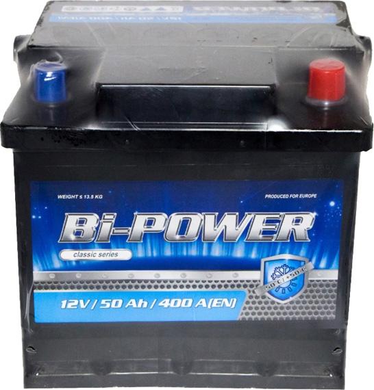 Аккумулятор Bi-Power 6 СТ-50-R Classic 0160382