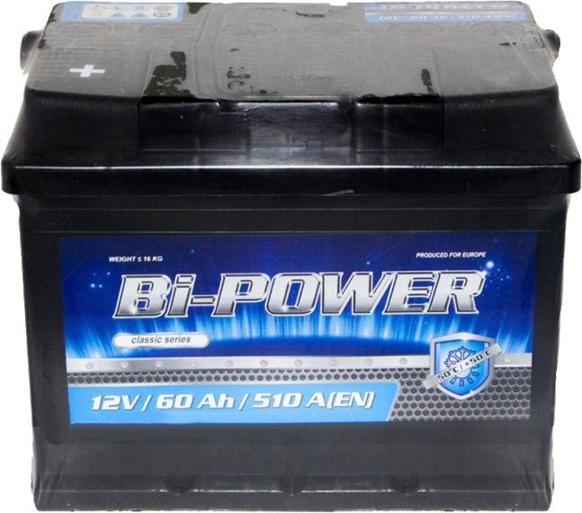 Аккумулятор Bi-Power 6 СТ-60-L Classic 0160384