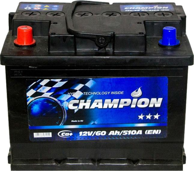 Аккумулятор Champion 6 СТ-60-L Black CHB601 на Daewoo Lanos
