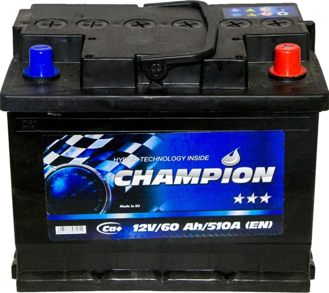 Аккумулятор Champion 6 СТ-60-R Black CHB600 на Mazda 3