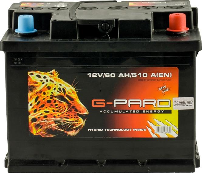 Аккумулятор G-Pard 6 СТ-60-R  TRC06000 на Hyundai Sonata