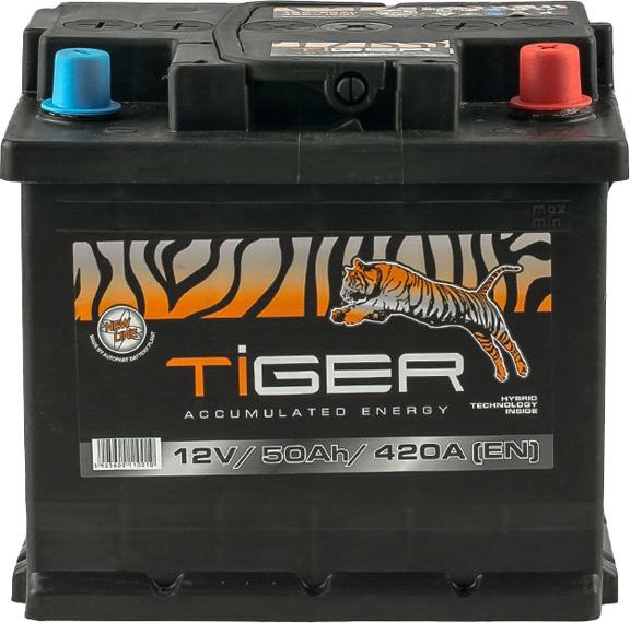 Аккумулятор Tiger 6 СТ-50-R  AFS05000 на Renault Fluence
