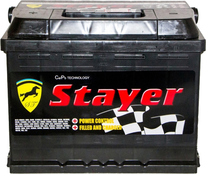 Аккумулятор Stayer 6 СТ-60-L Black 5601191049 на Kia Shuma