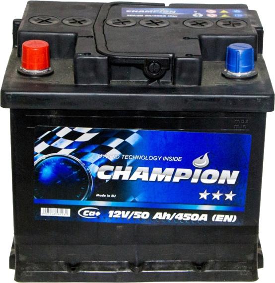 Аккумулятор Champion 6 СТ-50-L Black CHB501