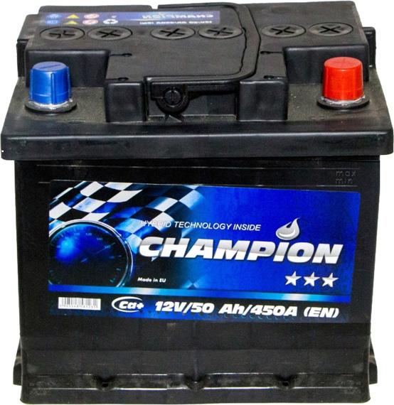 Аккумулятор Champion 6 СТ-50-R Black CHB500 на Fiat Doblo