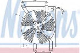 Вентилятор радиатора кондиционера Nissens 85356