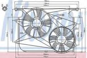 Вентилятор системы охлаждения двигателя Nissens 85610