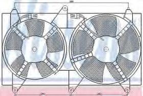 Вентилятор системы охлаждения двигателя Nissens 85611