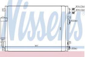 Радиатор кондиционера Nissens 94874