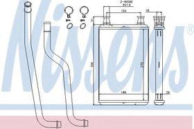 Радиатор печки Nissens 70978