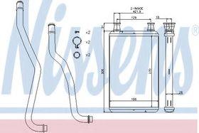 Радиатор печки Nissens 70979