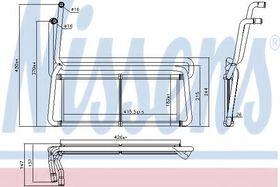 Радиатор печки Nissens 75007