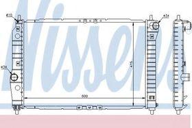 Радиатор охлаждения двигателя Nissens 61645