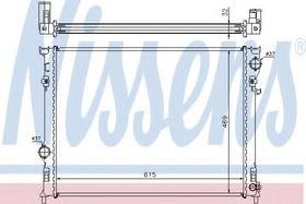 Радиатор охлаждения двигателя Nissens 61014A