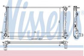 Радиатор охлаждения двигателя Nissens 61018A