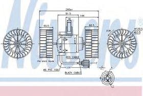 Вентилятор салона Nissens 87037