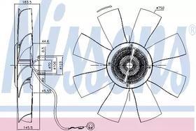 Вентилятор системы охлаждения двигателя Nissens 86021