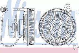 Вискомуфта вентилятора Nissens 86024