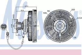 Вискомуфта вентилятора Nissens 86037