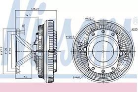 Вискомуфта вентилятора Nissens 86052