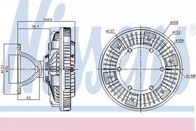 Вискомуфта вентилятора Nissens 86069