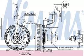 Вискомуфта вентилятора Nissens 86079