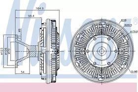 Вискомуфта вентилятора Nissens 86107