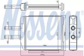 Радиатор печки Nissens 707072