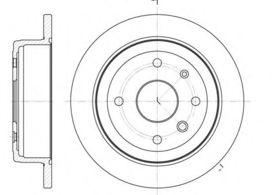 Тормозной диск Remsa 6877.00
