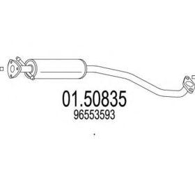 Средний глушитель выхлопных газов MTS 01.50835