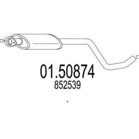 Средний глушитель выхлопных газов MTS 01.50874