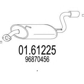 Глушитель выхлопных газов конечный MTS 01.61225