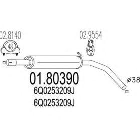 Средний глушитель выхлопных газов MTS 01.80390