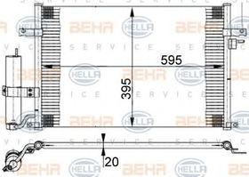 Радиатор кондиционера Behr Hella 8FC 351 302-191