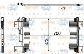 Радиатор кондиционера Behr Hella 8FC 351 307-361