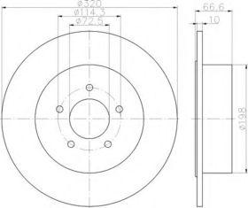 Тормозной диск Behr Hella 8DD 355 117-411