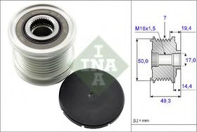 Муфта генератора INA 535 0140 10
