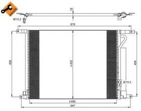Радиатор кондиционера NRF 35931