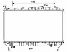 Радиатор охлаждения двигателя NRF 53150