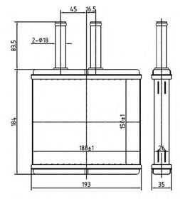 Радиатор печки NRF 54269
