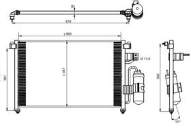 Радиатор кондиционера NRF 350016