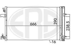 Радиатор кондиционера ERA 667053