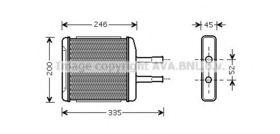 Радиатор печки Ava Quality Cooling DW6059