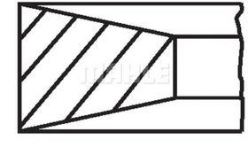 Комплект поршневых колец Mahle 011 RS 10101 0N0