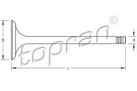 Выпускной клапан Topran 201 250