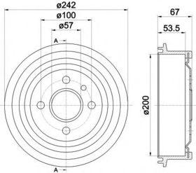 Тормозной барабан Textar 94008600