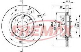 Тормозной диск Fremax BD-4750