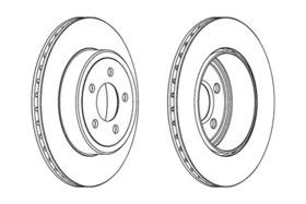 Тормозной диск Champion 563034CH1