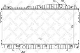 Радиатор охлаждения двигателя Stellox 10-25681-SX