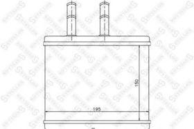 Радиатор печки Stellox 82-05014-SX